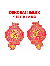 HO5672 - Hiasan Dekorasi Imlek Chinese New Year Tempelan Lampion