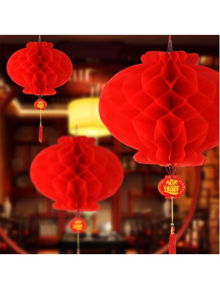 HO5675 - Hiasan Dekorasi Imlek Chinese New Year Lampion Merah (32 cm)