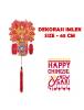 HO5678 - Hiasan Dekorasi Imlek Chinese New Year Gantungan Sakura (65 cm)