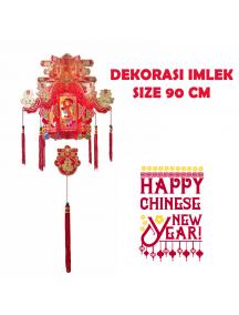 HO5680 - Hiasan Dekorasi Imlek Chinese New Year Gantungan Lantern (90 cm)