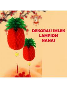 HO5683 - Hiasan Dekorasi Imlek Chinese New Year Lampion Nanas Merah (48 cm)
