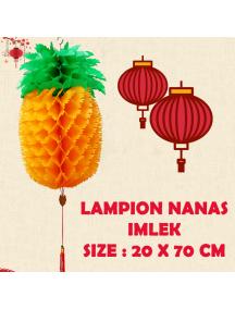 HO5689 - Hiasan Dekorasi Imlek Chinese New Year Lampion Nanas Kuning (60 cm)