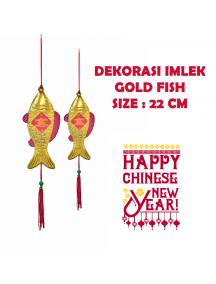 HO5699 - Hiasan Dekorasi Imlek Gantungan Pohon Fish Gold (22 cm)