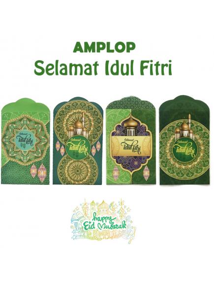 HO5705 - Premium Amplop/Angpao Medium Idul Fitri isi 8 pc Masjid (Medium)