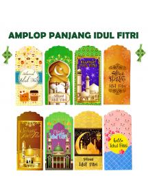 HO5707W - Amplop/Angpao Panjang Idul Fitri isi 8 pc Vertikal (Large)
