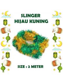 HO5708 - Dekorasi Slinger Lebaran / Idul Fitri Hijau Kuning