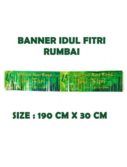 HO5712 - Dekorasi Hiasan Idul Fitri Banner Rumbai Selamat Idul Fitri
