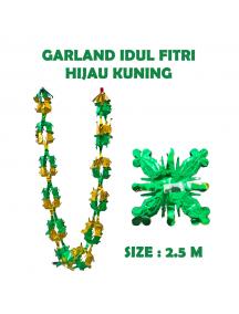 HO5717 - Dekorasi Hiasan Idul Fitri Garland Hijau Kuning