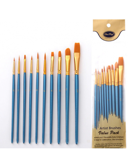 HO5720 - Artist Paint Brush / Kuas Lukis Value Pack Set 10 pc
