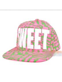 HO1636B - Topi Hip Hop BaseBall SWEET (Pink) #A8