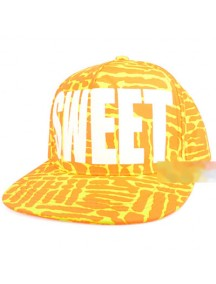 HO1636C - Topi Hip Hop BaseBall SWEET (Orange Kuning) #A8