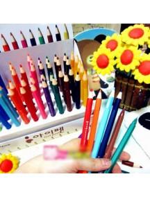 HO1718K - Pen Gel Tampak Seperti Pensil Kayu Warna HIjau Tua