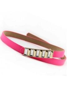 HO1708 - Tali Pinggang Slim Batu Aclyric Pink