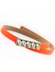 HO1711 - Tali Pinggang Slim Batu Aclyric Orange