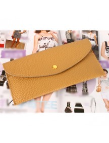 HO1798 - Dompet Fashion Simple Coklat Muda