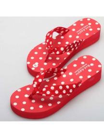 HO1842 - Sandal Polkadot Merah ( Size 36 )