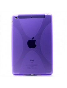 HO1882 - Silicon Case Transparat Ipad Mini ( Ungu) #A1