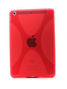 HO1883 - Silicon Case Transparat Ipad Mini ( Merah)#A1