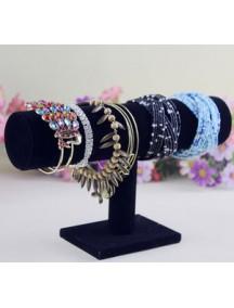 HO1915 - Display Perhiasan Gelang 1 Baris (Hitam)