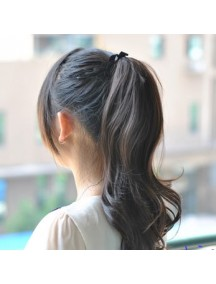HO2154 - Hair Clip Volume Ponytail Kuncir Panjang Curly (Hitam Natural)