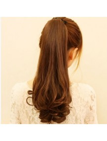 HO2157 - Hair Clip Volume Ponytail Kuncir Panjang Curly (Light Brown)