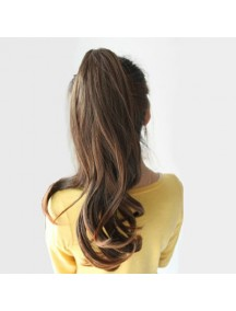 HO2158 - Hair Clip Volume Ponytail Kuncir Panjang Curly (Dark Brown)