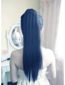 HO2159 - Hair Clip Ponytail Untuk Volume Kuncir Panjang Lurus Hitam Natural