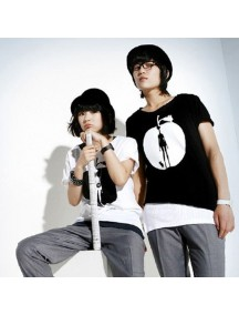 HO2168B - Baju Couple HITAM ( 2 Pcs )