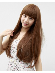 HO2185 - Hair Wig Rambut Palsu Panjang Volume (Light Brown)