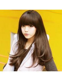 HO2186 - Hair Wig Rambut Palsu Panjang Volume (Dark Brown)