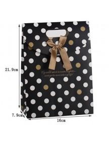 HO2319 - Kantong Hadiah / Gift Bag Polkadot ( 16 x 7.9 x 21.9 Cm ) #D1