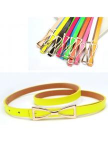 HO2341F - Tali Pinggang Simpel Fashion Pita Kuning #D1