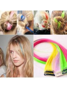 HO2379B - Clip Hair Wig Rambut Warna (Pink) #C36