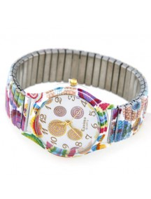 RJM1243 - Aksesoris Jam Tangan Fashion Stretch Graffiti