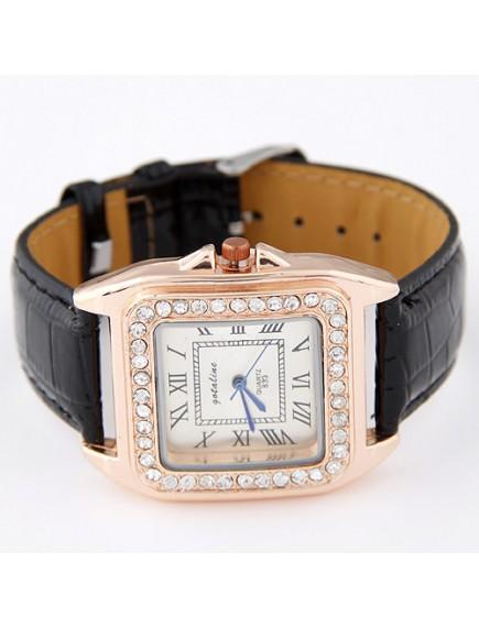RJM1320 - AKsesoris Jam Tangan Leather Diamond