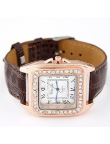 RJM1321 - AKsesoris Jam Tangan Leather Diamond