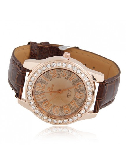 RJM1323 - Aksesoris Jam Tangan Fashion Leather Diamond