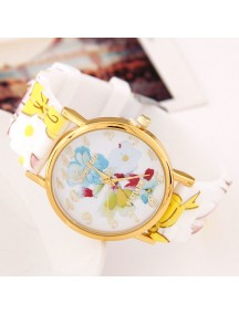RJM1330 - Aksesoris Jam Tangan Fashion Silikon Model Bunga