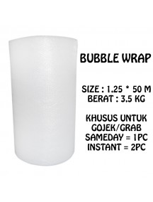 KF1000 - GOJEK/GRAB Premium Bubble Wrap Bening Transparant Packing 125cm x 50m