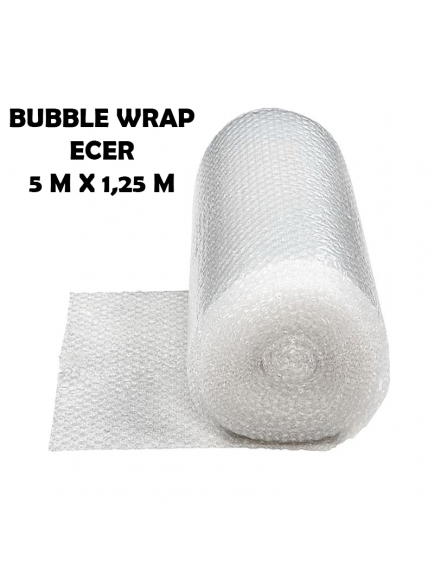 KF1005 - Bubble Wrap Packing Murah Bening Transparant Ecer 5m x 1,25m