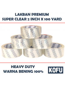 "KF1008 - Lakban Bening Super / Super Clear OPP Tape 2"" (48mm x 100yard)"