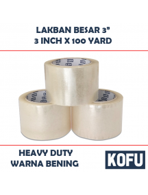 "KF1009 - Lakban Bening Besar / Clear OPP Tape 3"" (72mm x 100yard)"