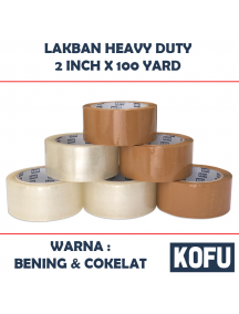 "KF1010W - Lakban Premium Heavy Duty Rekat / OPP Tape 2"" (48mm x 100yard)"