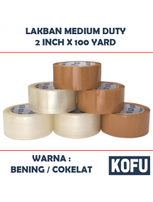 "KF1011W - Lakban Medium Duty Rekat / OPP Tape 2"" (48mm x 100yard)"