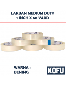 "KF1018 - Lakban Medium 24mm / OPP Tape 1"" (24mm x 60yard)"