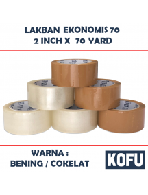 "KF1019W - Lakban Ekonomis 70 Yard / OPP Tape 2"" (48mm x 70yard)"