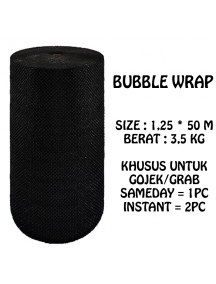 KF1021 - GOJEK/GRAB Premium Bubble Wrap Hitam Packing 125cm x 50m
