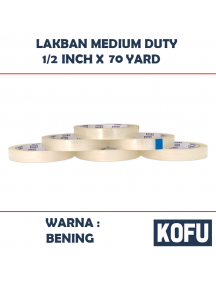 "KF1022 - Lakban Medium 12mm / OPP Tape 1/2"" (12mm x 70yard)"