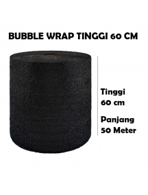KF1023 - GOJEK/GRAB Premium Bubble Wrap Hitam Packing 60cm x 50m (Garis Putus 1m)