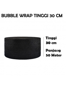 KF1026 - GOJEK/GRAB Premium Bubble Wrap HITAM Packing 30cm x 50m (Garis Putus 1m)